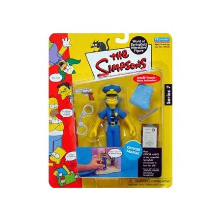 The Simpsons Series 7 Action Figure Officer Marge (Marge Simpson Wig)