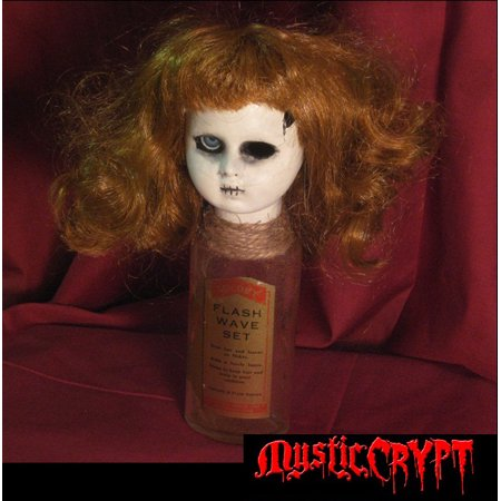Bottle Doll w One Eye Vintage Label Creepy Horror Doll by - Halloween Creepy Doll Makeup