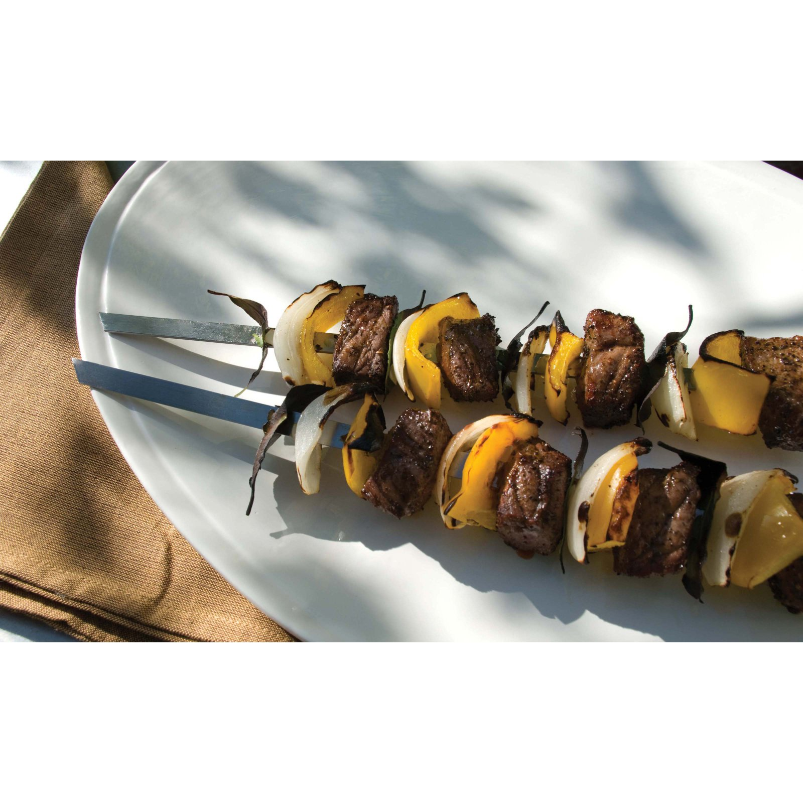 Steven Raichlen Best of Barbecue Signature Stainless Steel Grilling Kabob Skewers