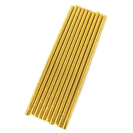 Solid Colored Paper Straws, Gold, 7-3/4-Inch, 10-Count (Colored Straws)