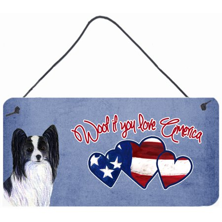 Woof if you love America Papillon Wall or Door Hanging Prints SS5016DS612