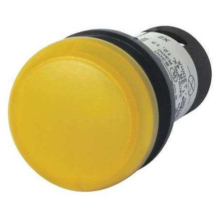 eaton m22-l-y pilot light operator, 22mm, round, 22mm, led