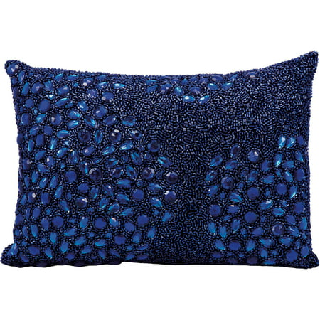 Luminescence Fully Beaded Decorative Pillow by Nourison