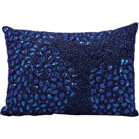 Blue Marlin Pillow (Luminescence Fully Beaded Decorative Pillow by Nourison)