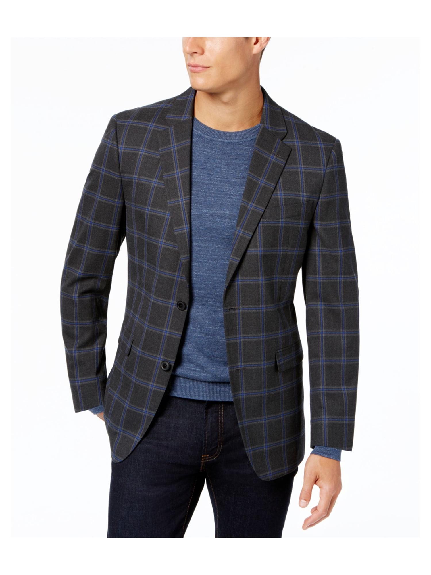 e17eb552b Tommy Hilfiger Mens Slim-Fit Two Button Blazer Jacket darkgray 40 ...