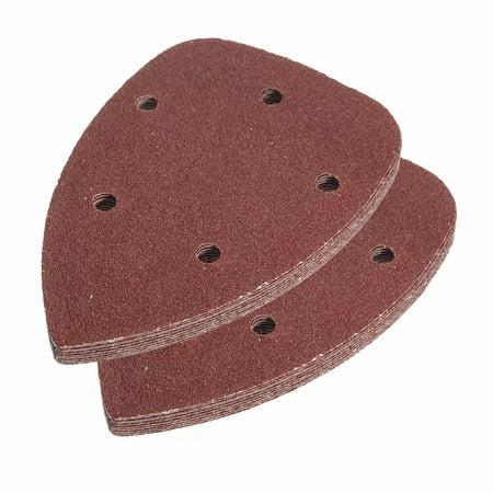 Sheets Hook - 10Pcs 80 Grit 5 Hole Mouse Sanding Disc grinderdisc Detail Sandpaper Hook And Loop Abrasive Sanding Sheets
