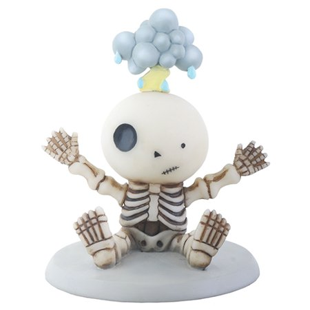 Lucky Struck by Lightning Sitting Baby Skeleton Halloween Figurine
