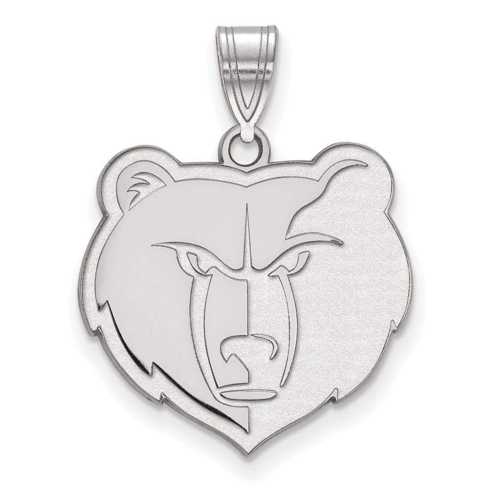 Memphis Grizzlies Large (3/4 Inch) Pendant (Sterling Silver)
