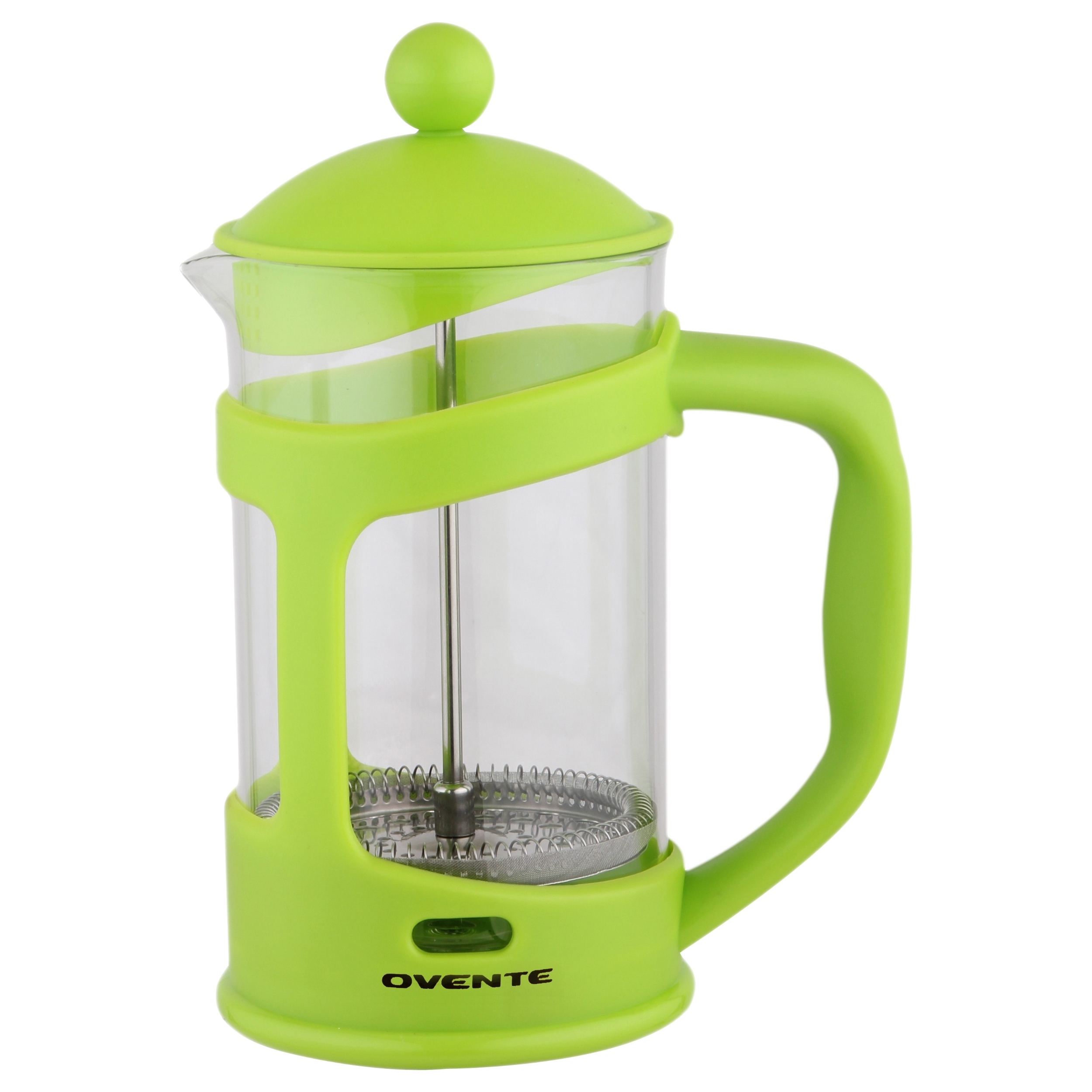 Ovente French Press Cafeti?re Coffee and Tea Maker, Heat-Resistant Borosilicate Glass, 34 oz (1005 ml), 8 cup, Purple (FPT34P)