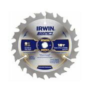 Irwin Industrial Tool 14027 5-1/2-Inch 18TPI Framing/Ripping Carbide Circular Saw Blade