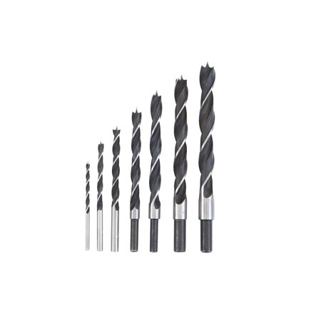 Brad Point Wood Drill Bit Set 7 - Brad Point Bit Set