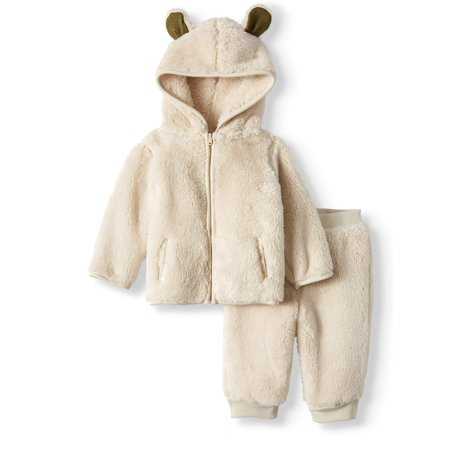 1920s Male Outfit (Garanimals Furry Fleece Hoodie & Jogger Pants, 2pc Outfit Set (Baby)