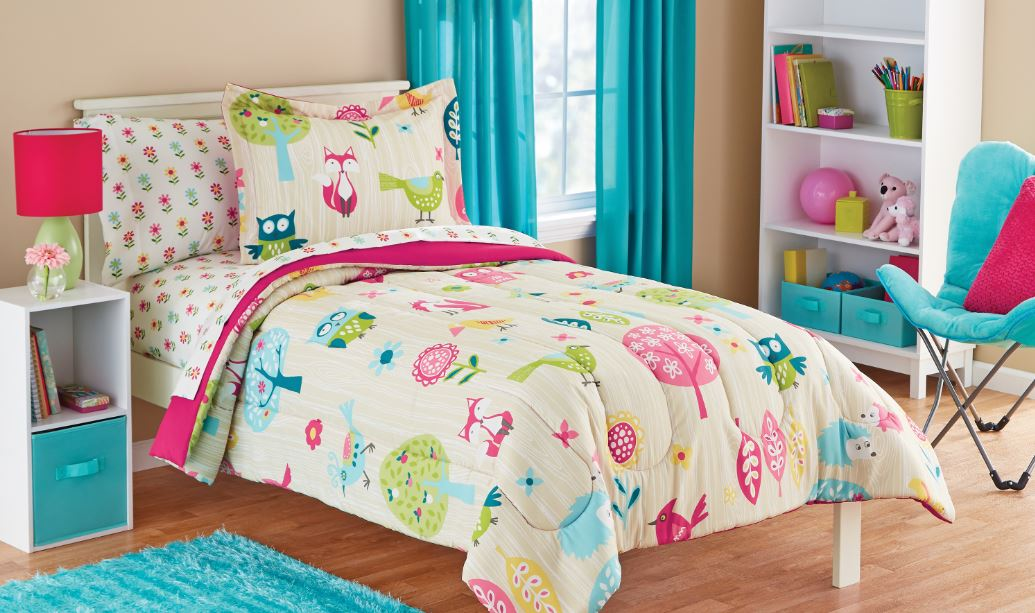 Mainstays Kids Woodland Bed in a Bag Coordinating Bedding Set Bedding Set by Keeco, LLC
