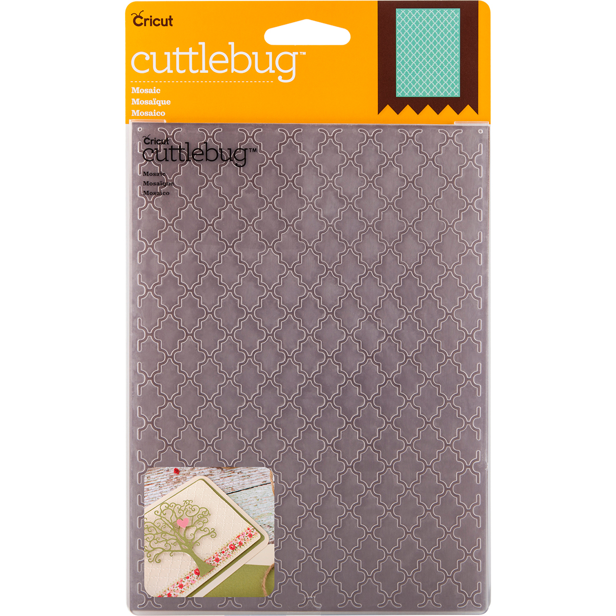 "Cuttlebug 5"" x 7"" Embossing Folder, Mosaic"