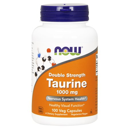 NOW Supplements, Taurine, Double Strength 1000 mg, 100 Veg Capsules