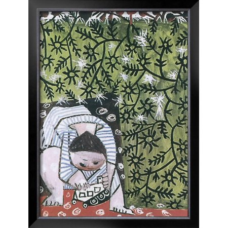 Enfant Jouant 1953 Framed Art Print Wall By Pablo Picasso
