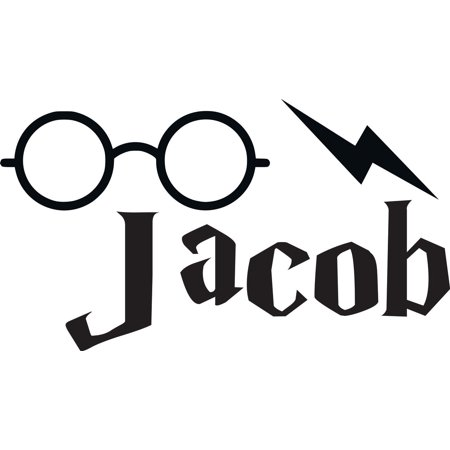 Personalized Name Vinyl Decal Sticker Custom Initial Wall Art Personalization Decor Boys Harry Potter Cartoon Bedroom Big Eyeglasses 10 Inches X 20 Inches](Harry Potter Decor)