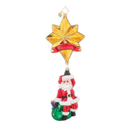 Christopher Radko Glass Royal Star Santa Christmas Ornament #1017739