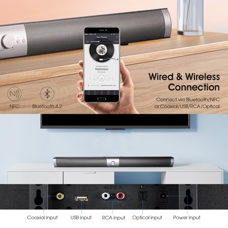 The New Design Silver Smart Beam Soundbar 2019 (Best Sounding Soundbar 2019)