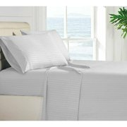 Lux Decor Collection Striped Brushed Microfiber 4-piece Bed Sheet Set