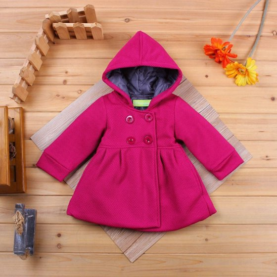 21f8d77c56e0 Emmababy - New Baby Toddler Girl Autumn Winter Horn Button Hooded ...
