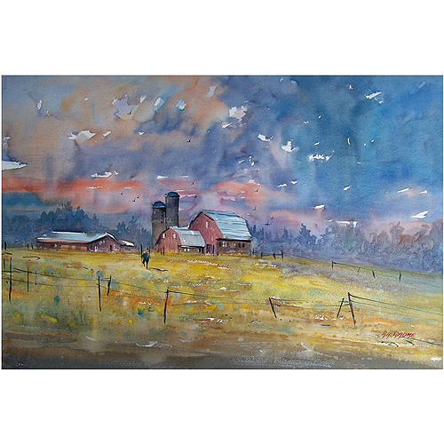 "Trademark Art ""Storm Brewing"" Canvas Art by Ryan Radke"