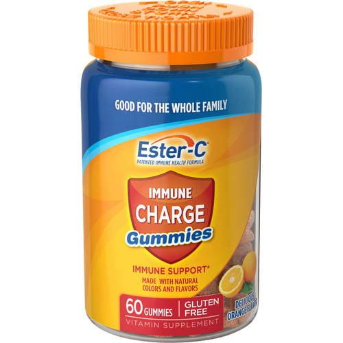 Ester-C Immune Charge Gummies Vitamin Supplement, 60 count