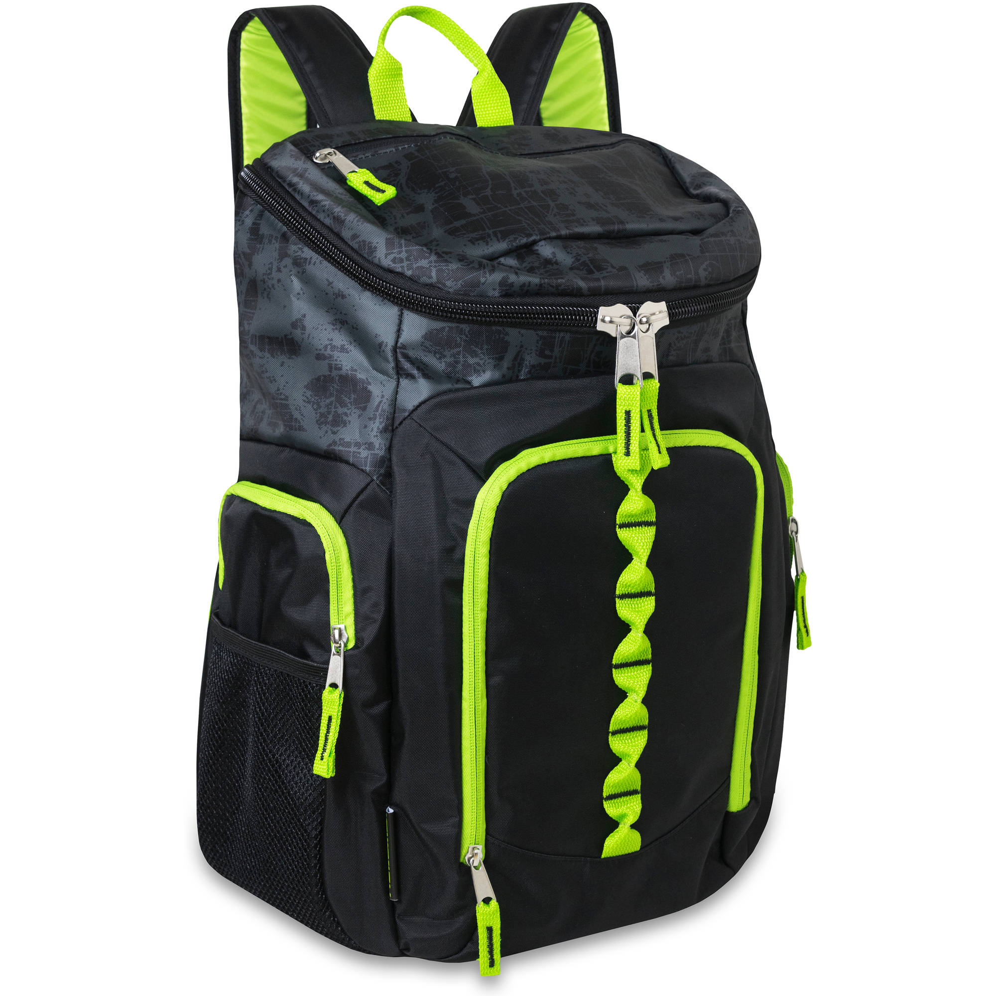 18 Inch Deluxe Top Zip Backpack with Double Side Pockets