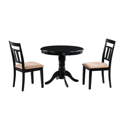 Alcott Hill Cedarville Elegant 3 Piece Solid Wood Dining Set