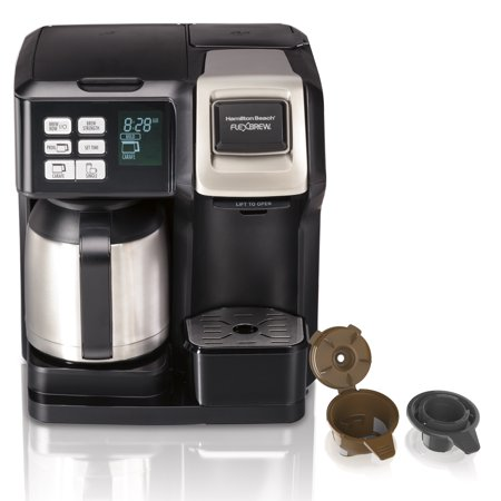 Hamilton Beach FlexBrew Trio Coffee Maker , 10 Cup Thermal, Black & Stainless, Model 49966
