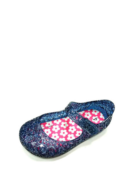 wonder Nation Youth Girls Casual Jelly Shoe Clear Sizes 12,13,1,2,3,4,