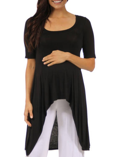 Women's Extra Long Maternity Plus Tunic Top