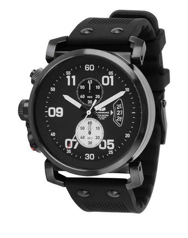 Vestal OBCS011 Uss Observer Chrono Watch Black by