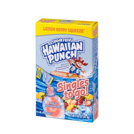 (12 Pack) Hawaiian Punch Drink Mix, Lemon Berry, .74 Oz, 1 Count (Berry Islands)