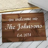Personalized Doormat - Wooden Welcome Doormat
