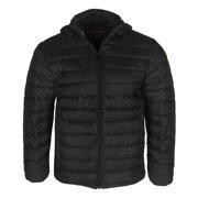 Maximos Men's PUFFY Insulated Packable Lightweight Zip Up Jacket Black S