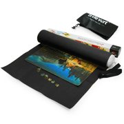 Lavievert Black Felt Puzzle Roll Mat 1500-piece, Drawstring Bag