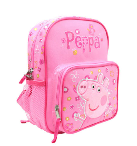 "2017 New E-ONE Peppa Pig 10"" Mini Toddler Backpack For Girls and Kids!"