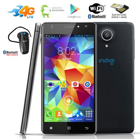 Indigi® NEW 4G LTE AT&T Unlocked Android 6.0 SmartPhone +GPS + WiFi + Bluetooth