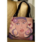 Manual Woodworkers and Weavers OTPEYE Pretty Eyes Tote Bag Jacquard Woven Colorful 17 X 17 in.