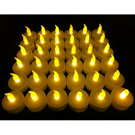 d7275bb16e Flameless LED Tea Light Candles, Vivii Battery-powered Unscented LED Tealight  Candles, Fake Candles, Tealights (36 Pack) - Walmart.com