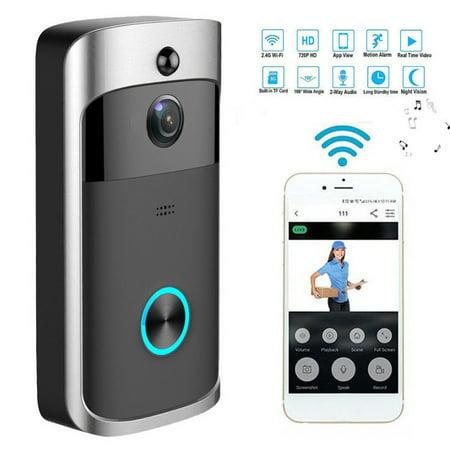 Doorbell Camera, Video Carema,Wireless Smart IP Video Intercom Wifi Video Door Bell for Apartments Alarm Security