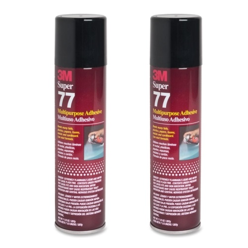 QTY 2 3M 7.3 oz SUPER 77 SPRAY Glue Multipurpose Bond Adhesive for DIY Felt and Fabric Lining Projects