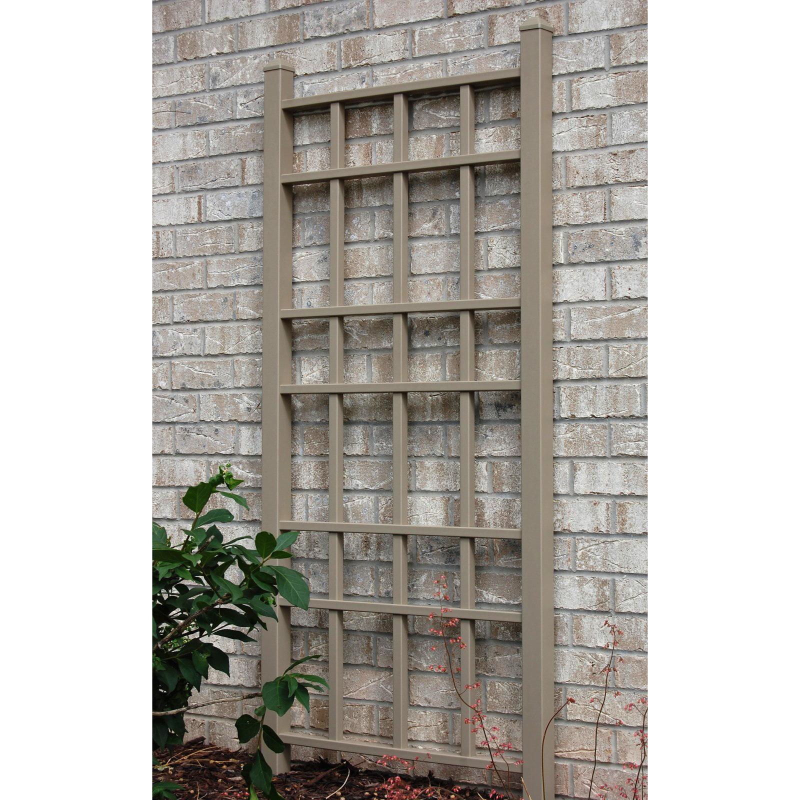 Dura-Trel Cottage 5.5-ft. Vinyl Wall Trellis - Mocha
