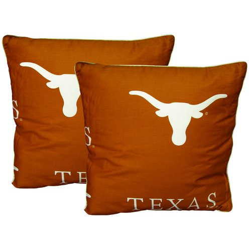 College Covers NCAA Texas Cotton Throw Pillow (Set of 2)