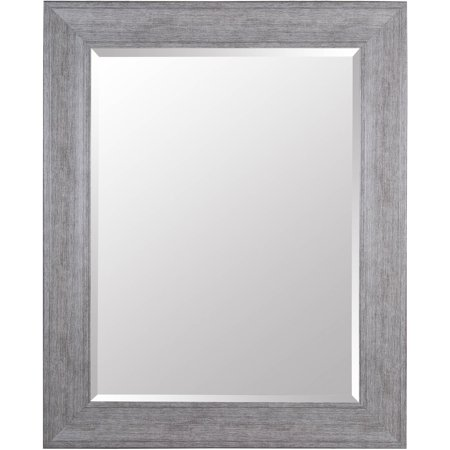 Gallery Solutions Large 39x49 Beveled Wall Mirror with Grey Wash ...