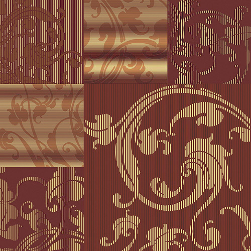 Blue Mountain Arabesque Patch Wallcovering, Multi Brown