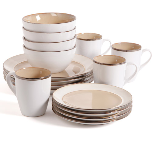 Gibson Studio Amberwood 16-Piece Dinnerware Set