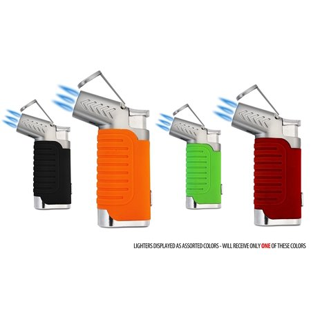 - Triple Torch Hammer Cigar Lighter - Assorted Colors By Spacely Sprockets Ship from US