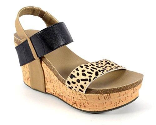 Corkys Footwear Womens Corky s Wedge CHeetah by CORKYS FOOTWEAR